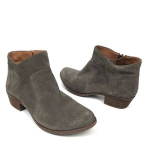 LUCKY BRAND GRAY SUEDE BROLLEY ANKLE BOOTIES SZ 6